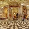 The magnificent interior of the Basilica di Santa Maria Maggiore in Bergamo