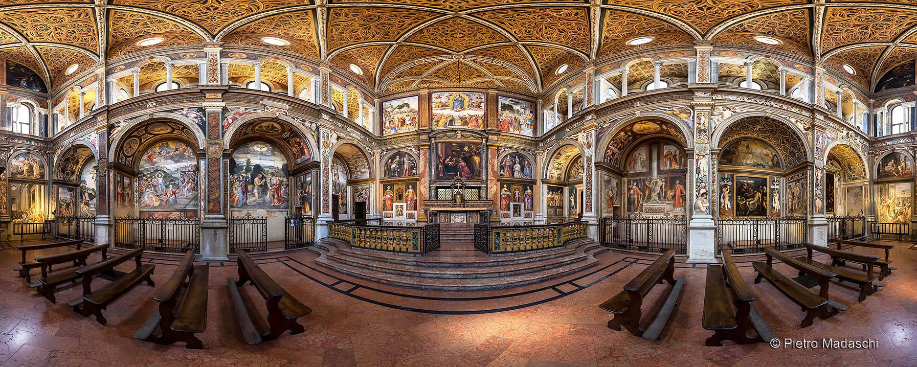 "St Maurizio at Monastry: the magnificent Hall of the Faithful, ""Aula dei Fedeli"""