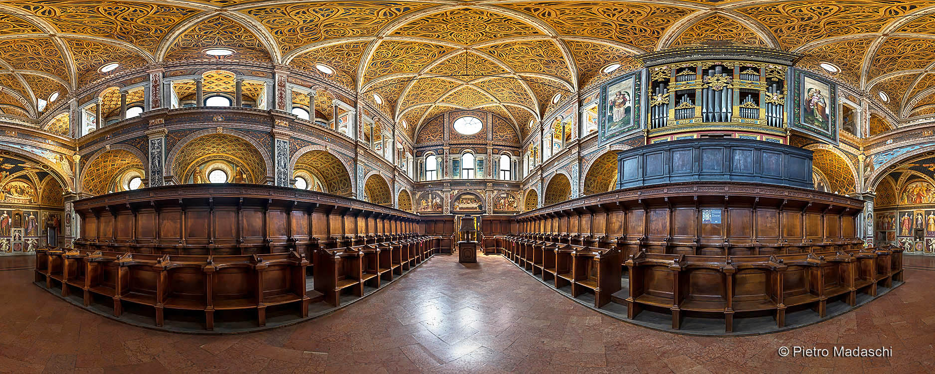 St Maurizio at Monastry: the splendid Hall of Nuns and the 16th Century's organ