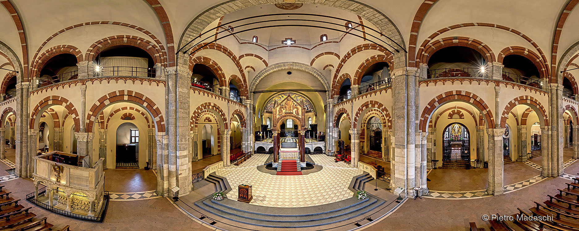 The Basilica of St Ambrose: the Romanesque interior and the matroneum
