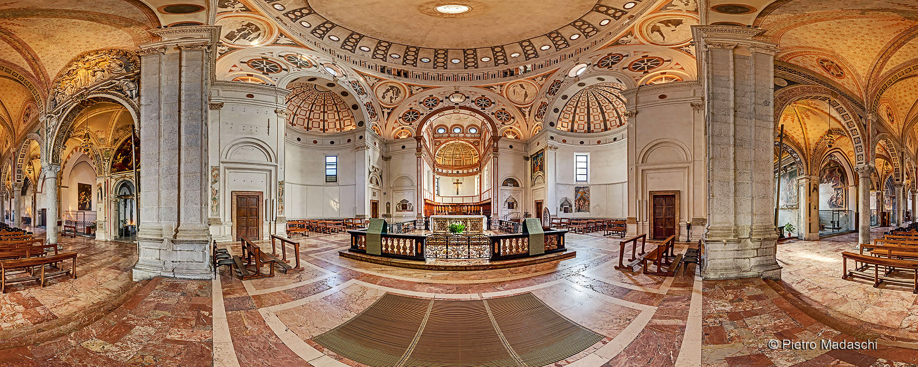 Santa Maria delle Grazie: general view with the beautiful cupola