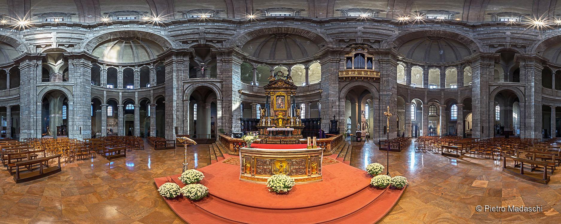 The ancient Basilica of St Lorenzo Maggiore: the interior in Octagonal Shape