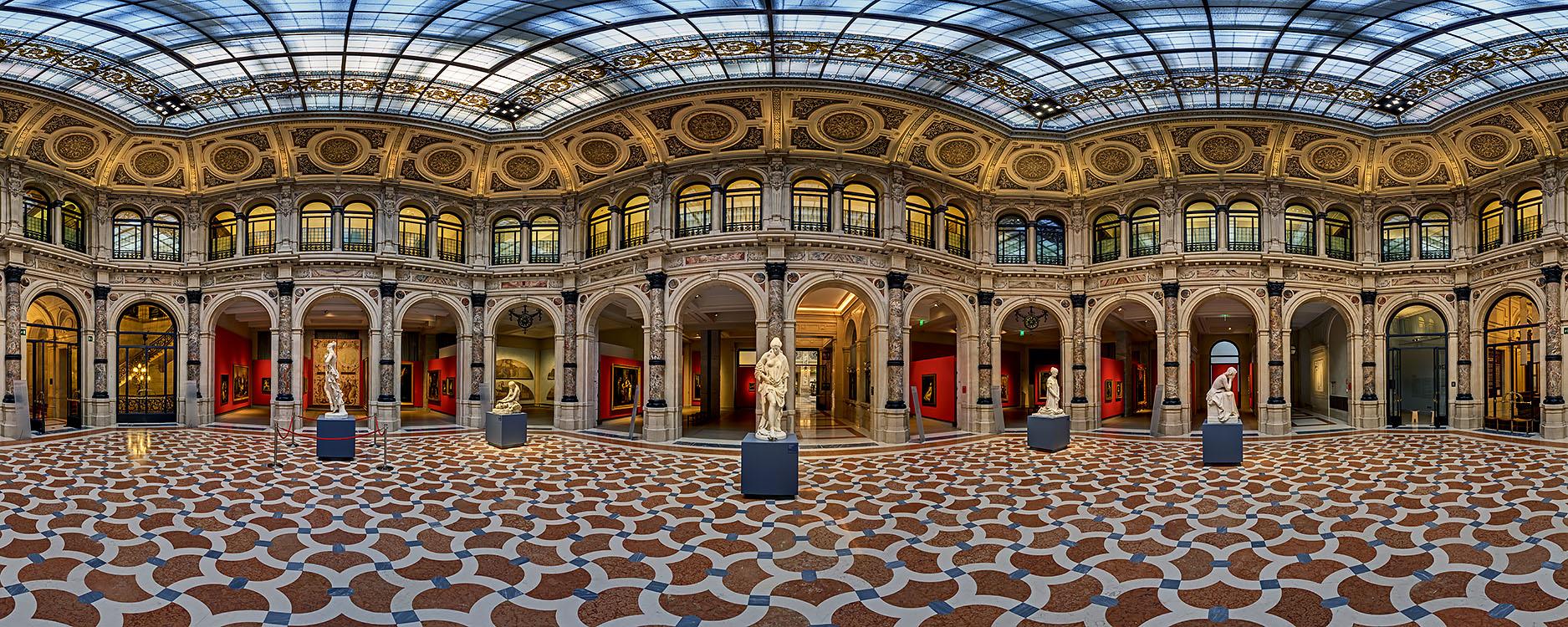 "The magnificent Hall ""La Scala"" set up for the Francesco Hayez Exhibition"