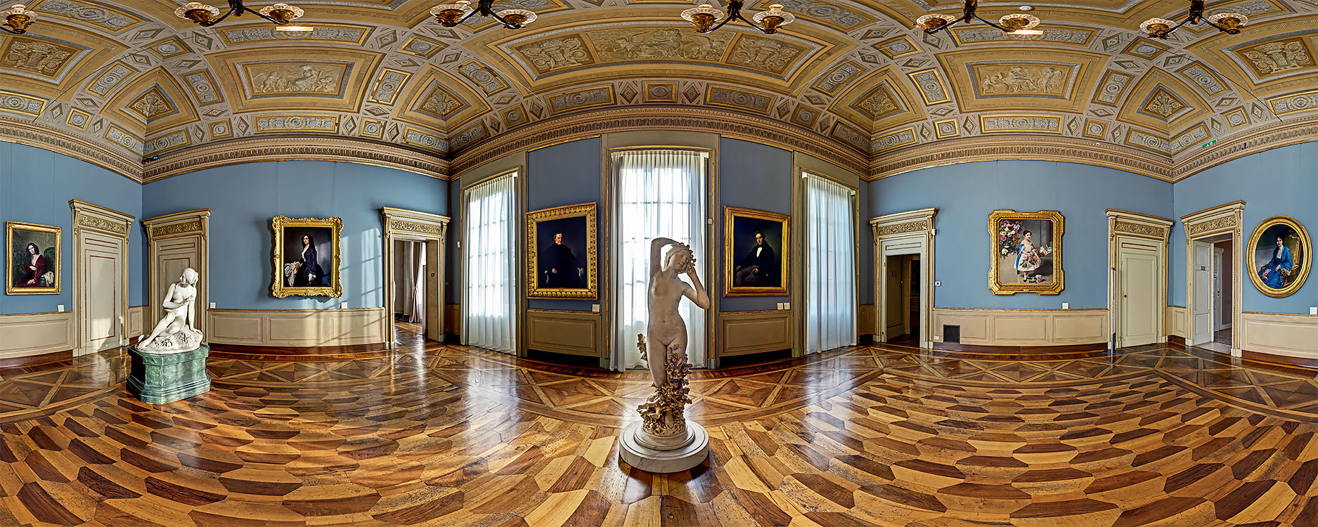 The Hall of Francesco Hayez, the greatest Italian painter of the 19th Century