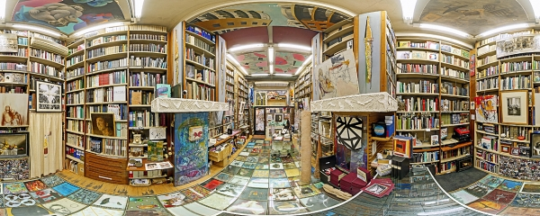 The historical Bocca Bookshop, specialized in the art publications
