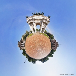 Milano - L' Arco della Pace e Piazza Sempione