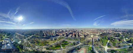 Vista dalla Torre Branca, Parco Sempione di Milano